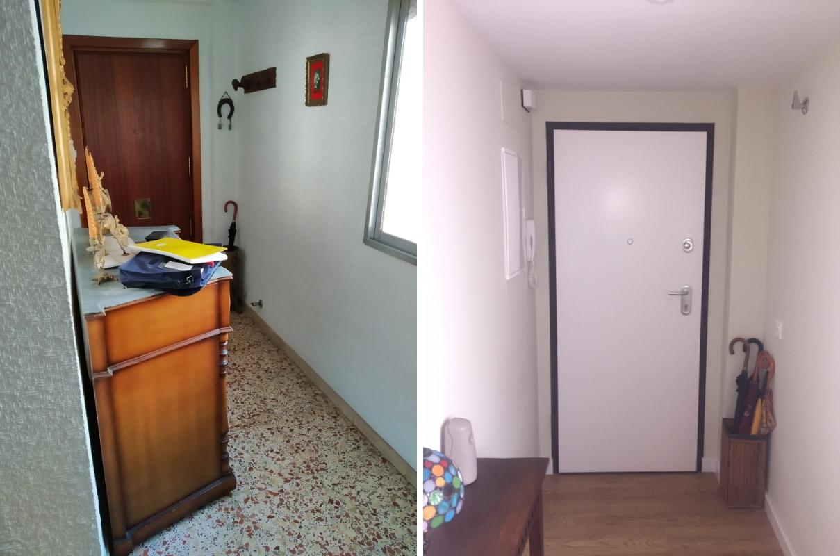 Reforma de entrada en piso de Almería