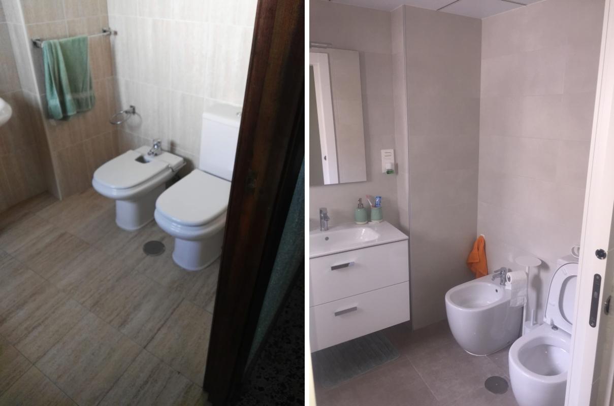 Reforma de baños en piso de Almería