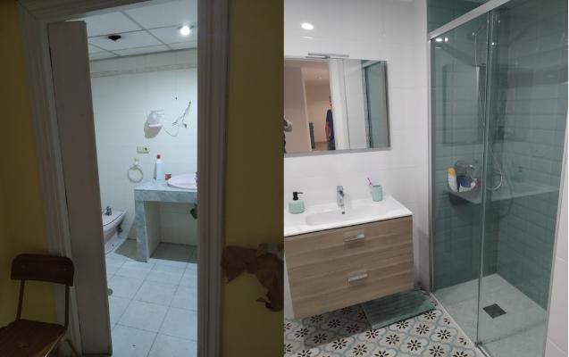 Reforma de baño en piso Almería Barrio Santa Rita