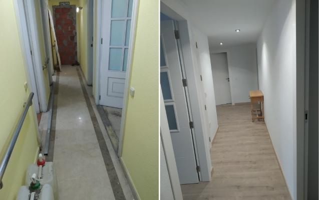 Reforma pasillo en piso Almería